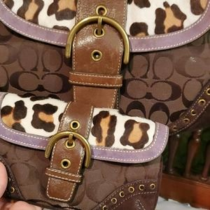 Coach purse and wristlet